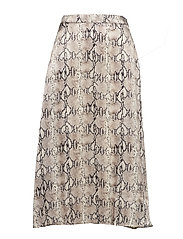 Snake print skirt - LIGHT BEIGE