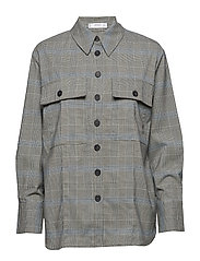 Checked overshirt - MEDIUM BLUE