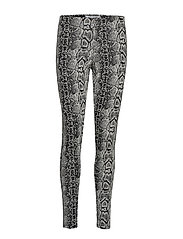 Snake print leggings - NATURAL WHITE