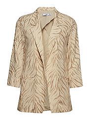 Animal print suit blazer - LT PASTEL BROWN