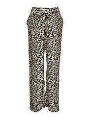Flowy straight-fit trousers - LIGHT BEIGE