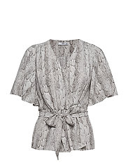 Snake print blouse - GREY