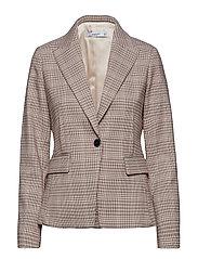 Micro houndstooth suit blazer - PINK