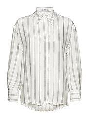Oversize striped shirt - NATURAL WHITE