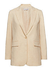 Flecked suit blazer - YELLOW