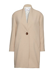 Unstructured button coat - LIGHT BEIGE