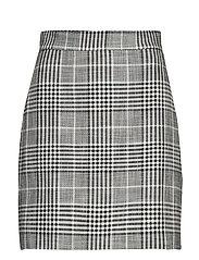 Check miniskirt - GREY