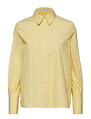 Striped cotton shirt - YELLOW
