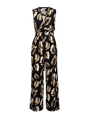 Belt long jumpsuit - MEDIUM YELLOW