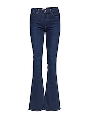 Decorative seam flared jeans - OPEN BLUE