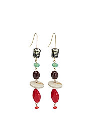Ceramic earrings - RED