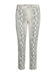Animal print jeans - NATURAL WHITE