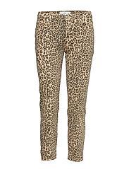 Animal print jeans - LIGHT BEIGE