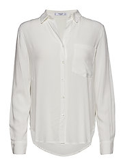 Pocket flowy shirt - NATURAL WHITE