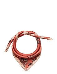 Seashell printed scarf - MEDIUM ORANGE