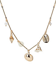 Shells bead necklace - GOLD