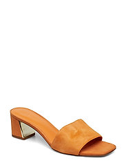 db3d5a6f9a14 Heel leather sandals - ORANGE