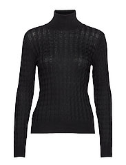 Cable-knit sweater - BLACK