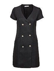 Buttons tweed dress