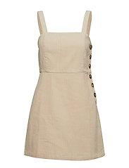Corduroy pinafore dress - NATURAL WHITE