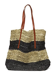 Braided shopper bag - LIGHT BEIGE
