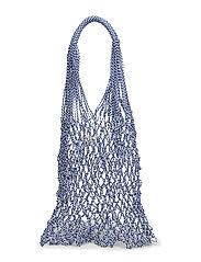 Handmade net bag - MEDIUM BLUE