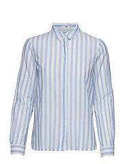 Essential cotton-blend shirt - NATURAL WHITE