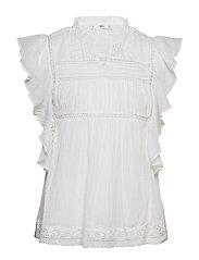 Ruffled sleeve blouse - NATURAL WHITE