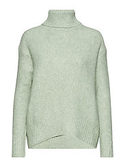 Recycled polyester sweater - TURQUOISE - AQUA