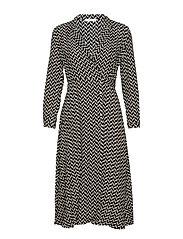 Print wrap dress - BLACK