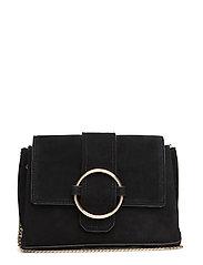 Ring leather bag - BLACK