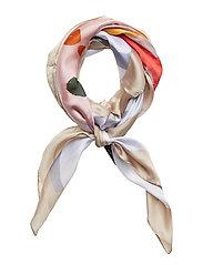 Printed scarf - ORANGE