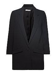 Structured crepe blazer - BLACK