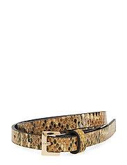 Snake-effect belt pack - GOLD