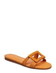 Leather sandals - ORANGE