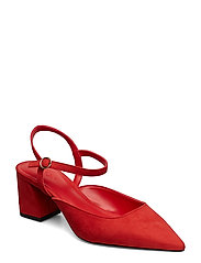 Ankle-cuff heel shoes - RED
