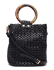 Laser-cut bucket bag - BLACK