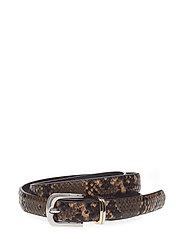 Skinny Snake-Effect Belt