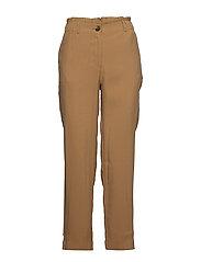 Elastic waist trousers - MEDIUM BROWN