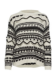 Bicolor jacquard sweater