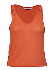 Knot knitted top - ORANGE