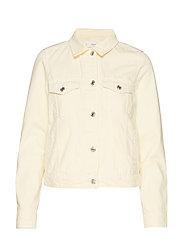 Pocketed denim jacket - YELLOW