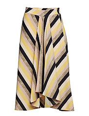 Multicolor striped skirt - YELLOW