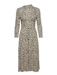 Animal print dress - BROWN
