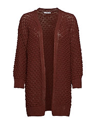 Cotton-blend cardigan - BROWN