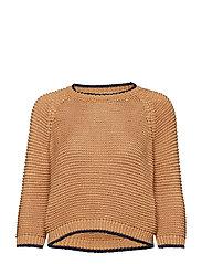 Open-knit sweater - MEDIUM BROWN