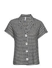 Camp-collar linen-blend shirt - OPEN BLUE