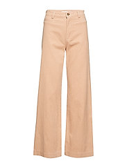 Corduroy straight trousers - LT-PASTEL PINK