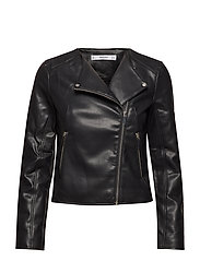 Zipped biker jacket - BLACK