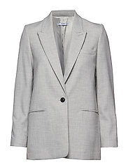 Flecked structured blazer - LT PASTEL GREY